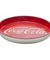 Metalen dienblad van coca cola