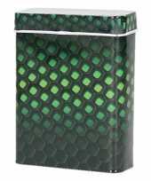 Metalen peukenblikje zwart groen