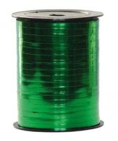 Metallic groen lint op rol 250 meter