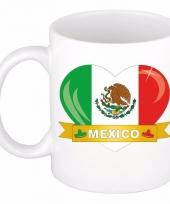 Mexicaanse vlag hart mok beker 300 ml