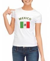 Mexicaanse vlaggen t-shirt voor dames