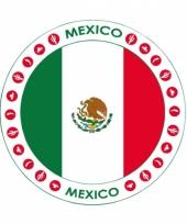 Mexico vlag print bierviltjes