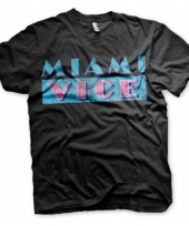 Miami vice logo kleding heren shirt