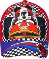 Mickey mouse kids petje cap rood