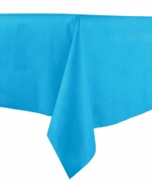 Middenblauw tafelkleden 140 x 240 cm