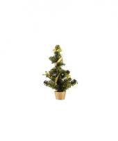 Mini kerst decoratie boompje goud 36 cm