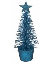Mini kerstboom in de kleur blauw 15 cm