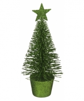 Mini kerstboom in de kleur groen 15 cm