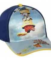 Minions baseball cap blauw voor kids