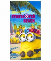 Minions beach badlaken 70 x 140 cm
