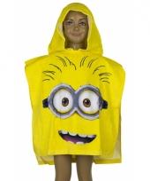 Minions gezicht zwembadponcho geel