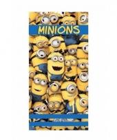 Minions handdoek blauw met geel
