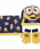 Minions handschoenen sjaal muts voor kinderen