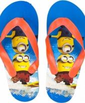 Minions kids slippers blauw oranje