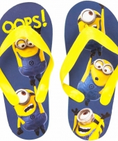 Minions kids slippers oops blauw geel