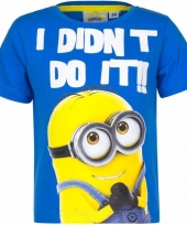 Minions kinder t-shirts blauw