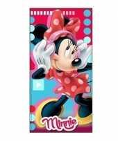 Minnie mouse badlaken strandlaken muziek 70 x 140 cm