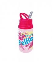 Minnie mouse drink fles roze