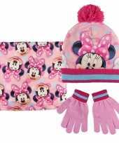 Minnie mouse handschoenen sjaal muts voor kinderen