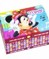 Minnie mouse juwelen opbergdoosje gekleurd