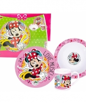 Minnie mouse kinderservies 3 delig