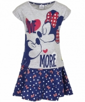 Minnie mouse kledingsetje blauw grijs