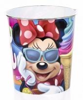 Minnie mouse prullenmand gekleurd