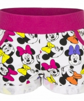 Minnie mouse short fuchsia voor meisjes