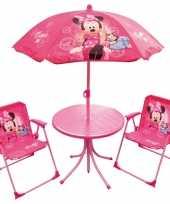 Minnie mouse tuinstoelen met tafel en parasol