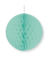 Mintgroene decoratie bal 10 cm brandvertragend