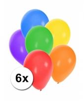 Mix ballonnen gekleurd 6 stuks