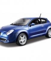 Model auto alfa romeo mito blauw 1 24