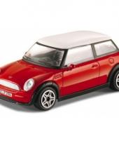 Model auto mini cooper rood 1 43