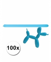 Modelleerballon blauwe zak met 100 stuks