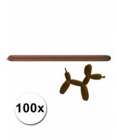 Modelleerballon bruin zak met 100 stuks