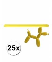 Modelleerballon geel zak met 25 stuks