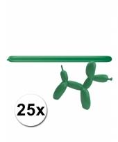 Modelleerballon groen zak met 25 stuks