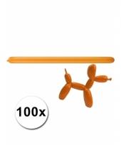Modelleerballon oranje zak met 100 stuks