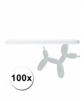 Modelleerballon witte zak met 100 stuks