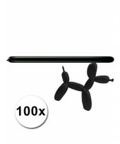 Modelleerballon zwarte zak met 100 stuks