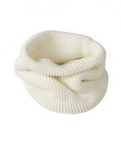 Modern gebreide sjaal off white