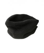 Modern gebreide sjaal zwart