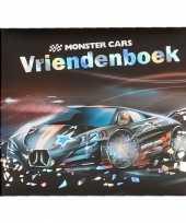 Monster cars vriendenboek zwarte auto