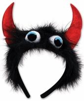 Monstertje diadeem zwart rood