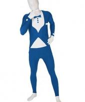 Morphsuit kostuum blauw pak