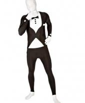 Morphsuit kostuum net pak zwart