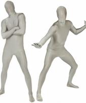 Morphsuit kostuum zilver