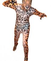 Morphsuit met luipaard print voor kids