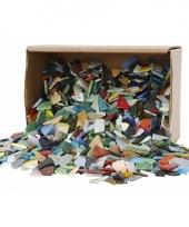 Mozaiek glas verschillende vormen 2kg