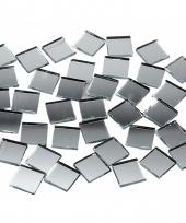 Mozaiek spiegel tegels vierkantjes 10x10 mm